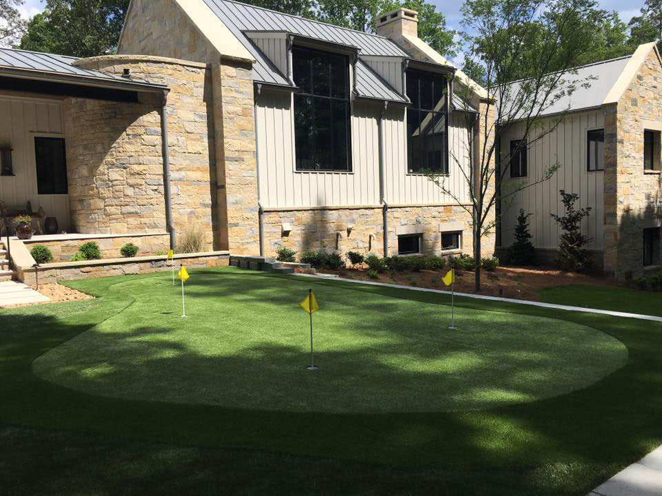 synthetic grass private golf green