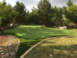 custom home putting green