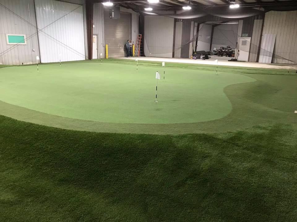 indoor custom putting green
